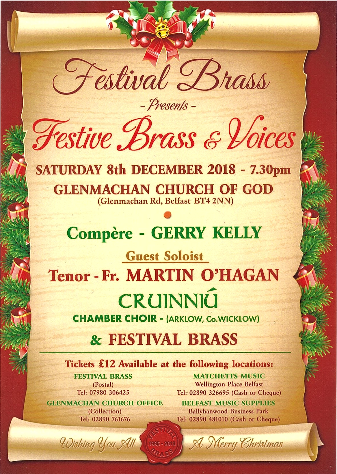Festive Brass and Voices on 8th December 2018